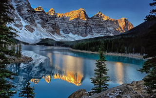 Обои Moraine Lake, горы, Канада, Canada, Banff National Park, отражение, Valley of the Ten Peaks, Озеро Морейн