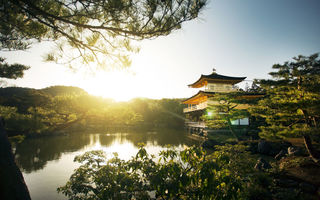 Обои Kyoto, дом, озеро, дервья, архитектура, the Kinkakuji, золотой дворец