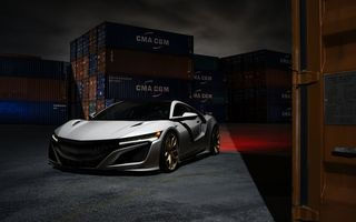 Обои Front, Acura, HRE, Wheels, Supercar, NSX