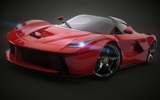 Обои Ferrari, LaFerrari, 2014, Red