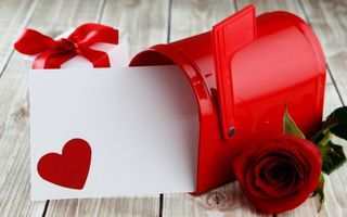 Картинка red, love, roses, valentine`s day, romantic, красные розы, sweet, heart, gift
