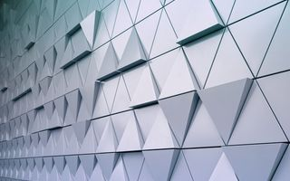 Картинка abstract, wall, triangle, треугольник, texture, steel, design