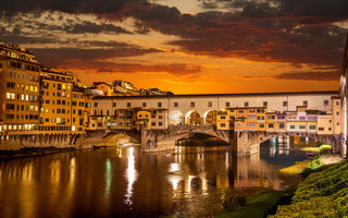 Обои Night, lights, city, Florence, Венеция, Старый мост, город, Sunrise, Италия красивая, Venice, Флоренция, Ночь, Sunrise, огни, реки Арно, river Arno, Old Bridge, beautiful italy, здания, buildings