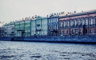 Картинка санкт-петербург, питер, река, английская набережная, река нива, набережная, Russia, канал, St. Petersburg