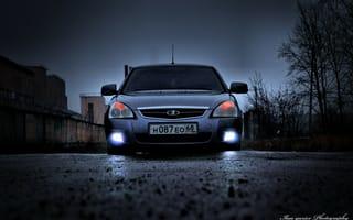 Картинка Лада, Ваз, авто, Priora, Lada, перед, Приора, VAZ, фары, auto, машина, оптика