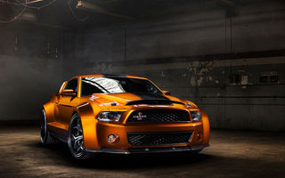 Обои Ford, Vellano Wheels, Super Snake, Shelby, orange, мускул кар, muscle car, GT500, Ultimate Auto, Mustang, обвес, front