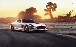 Обои Mercedes SLS, RennTech, авто, tuning, Black Series, car, мерседес, William Stern, hq, тюнинг