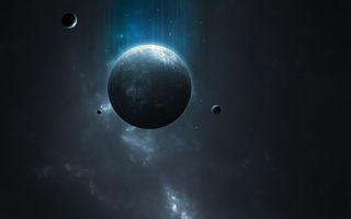 Обои Sci Fi, dark, blue, light, planet