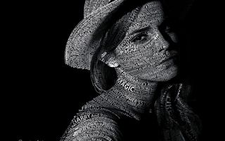 Картинка Typography, текст, Text, Portrait, Эмма Уотсон, Emma Watson