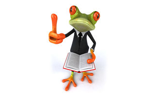 Картинка frog, book, лягушка, 3d, suit, funny