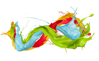 Картинка paint, краска, splash, design, colors, брызги, капли