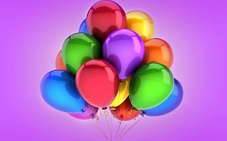 Обои balloons, holiday, воздушные шары, celebration, colorful