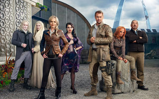 Обои Вызов, Defiance, сериал, Stephanie Leonidas, Julie Benz, Grant Bowler, Graham Greene