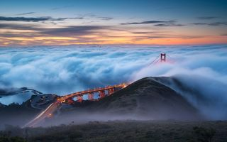 Картинка Golden Gate Bridge, San Francisco, fog