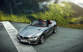 Обои Mountain, BMW, Silver, Fog, Roadster, Zagato