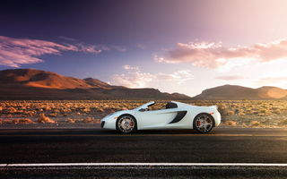 Обои McLaren, макларен, Spider, supercar, MP4-12C, дорога