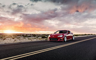 Обои scion fs-r, закат, car, tuning, lunchbox photoworks, toyota gt86