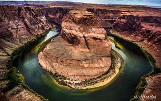 Обои Grand Canyon National Park, скалы, Horseshoe Bend, река Колорадо, Подкова, природа, каньон