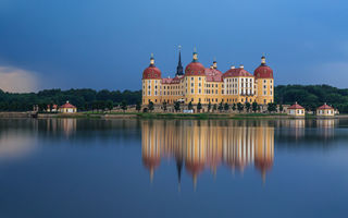 Обои Moritzburg Castle, Germany, вода, Германия, отражение, Замок Морицбург