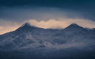 Картинка Cloud Topped Cuillins, Остров Скай, Scotland, Isle of Skye, Шотландия