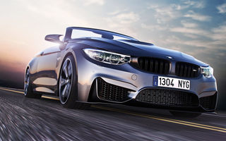 Обои BMW, M4, Road, Sport, Car, Front, Speed, Convertible