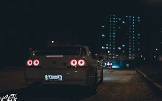 Обои Владимир Смит, GTR 33, авто, auto, Vladimir Smith, габариты, Nissan, photography, photographer, Skyline, машина, фотограф, корма