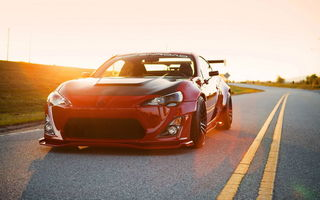 Обои toyota, scion fs-r, red, tuning, тюнинг, car, brz, gt86