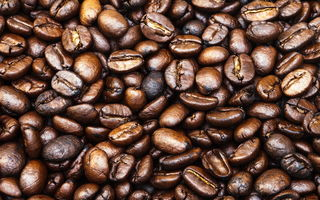 Обои coffee, pattern, coffee beans, whole