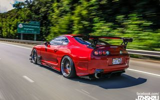 Обои toyota, tuning, jdm, red, race, gt, jz, turbo, supra, japan