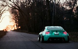 Картинка Toyota, Turquoise, Rear, Stance, Works, GT86