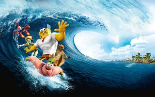 Картинка The SpongeBob Movie: Sponge Out of Water, Губка Боб, волна, Sponge Out of Water, The SpongeBob Movie, океан