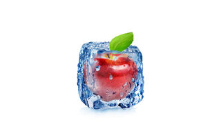 Картинка арт, drops, cube, воды, яблоко, water, white, frozen, абстракция, куб, капли, apple, 3d, ice, льда, fruit