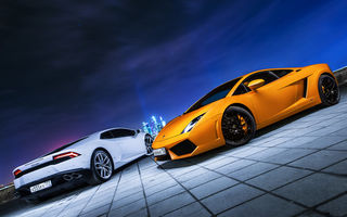 Обои Lamborghini, Moscow, Huracan, Car, City, Gallardo, Ligth, Nigth, Photo