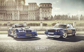 Обои Bimmers Drift, E36, BMW, race car, E30