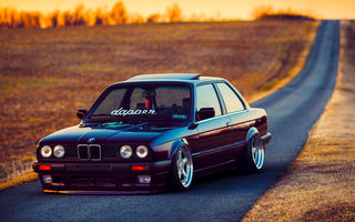 Картинка BMW, Beam, Stance, Front, Ligth, Dapper, Car, Black, Sun, E30