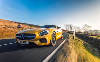 Обои 2015, UK-spec, GT S, Mercedes, AMG, желтый, C190, мерседес, амг