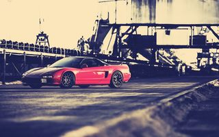 Обои honda nsx, car, red