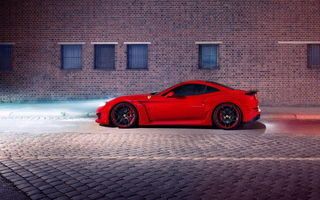 Обои Ferrari, car, ночь, N-Largo, California T, tuning, Novitec Rosso