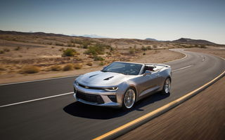 Обои Chevrolet, SS, car, Convertible, Camaro, в движении