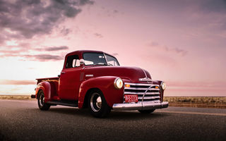 Обои chevrolet, retro, pickup, old, lunchbox photoworks, car