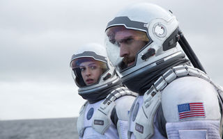 Обои Interstellar, Wes Bentley, Интерстеллар, Кристофер Нолан, астронавты, Anne Hathaway, Уэс Бентли, Энн Хэтэуэй, Christopher Nolan, космос, скафандр