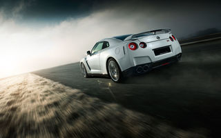 Картинка Nissan, Car, White, Norway, Speed, Sport, Road, GTR, Rear, R35