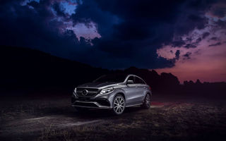 Картинка Mercedes-Benz, SUV, Front, GLE, Silver, 63, Clouds, AMG