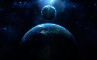 Обои planet, blue, energy, light