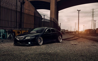 Картинка Acura, Stancenation, TL, 2015, Flawless, Black, Low, Sun