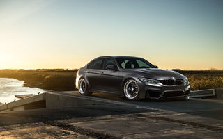 Обои BMW, Sky, F80, Carbon, Front, Black, Sun, Mode, M3, Matte