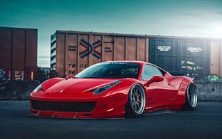 Картинка Ferrari, Front, 458, Liberty, Body, City, Kit, Italia, Walk, Red