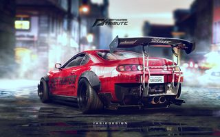 Картинка Toyota, Need for speed, Drift, Supra, 2JZ, JZ, Speedhunters, Tuning, YASID design, Spoiler