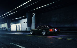Обои Mazda, Dark, Nigth, Road, Low, Green, Rear, Stance, MX-5