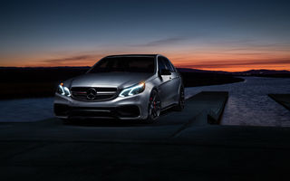 Картинка Mercedes-Benz, Mode, AMG S, Matte, Sonic, E63, Carbon, Motorsport, Grey, Car, Sunset